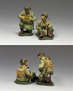 Kneeling and Sitting Paratroopers (101st. Airborne)