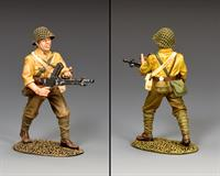 Advancing Machine Gunner