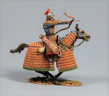 Mongol Warrior Shooting Arrow Forward