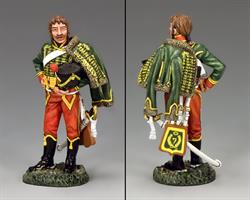 Napoleonic 7th Hussar At Ease