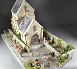 French church - diorama