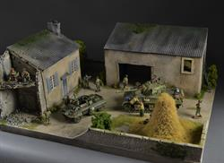 Farmhouse and Barn - diorama