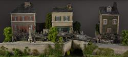 French/Belgian city - diorama