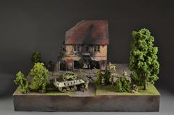Nazi Command Post - diorama