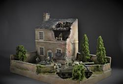 French house ruin - diorama