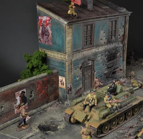 German ruin building - Diorama