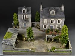 Village in Normandy - Diorama