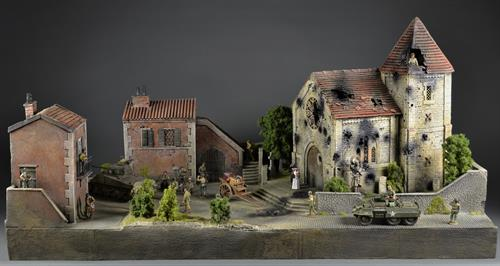 Italian village/church - Diorama