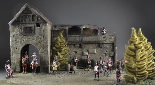 Village Wall and Tower - Diorama