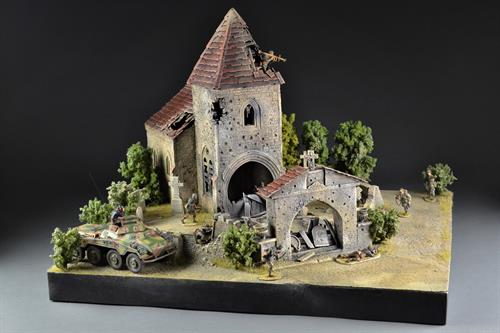 Saint Privat Church & Cemetery - Diorama