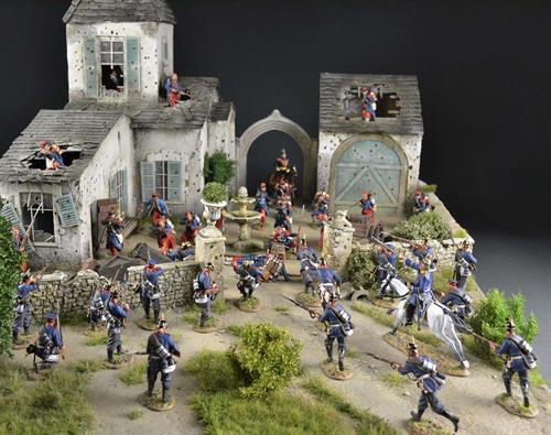 French wine farm - Diorama