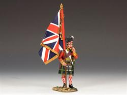 Gordon Highlanders Officer with the King's Colour
